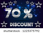 70  off discount promotion sale ... | Shutterstock .eps vector #1225375792