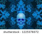 beautiful bohemian damask... | Shutterstock .eps vector #1225378372