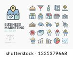 business marketing icon set 2 | Shutterstock .eps vector #1225379668