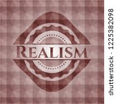realism red emblem with...   Shutterstock .eps vector #1225382098