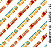 game gift kids train seamless... | Shutterstock .eps vector #1225384012