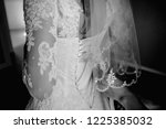 lace up wedding bridesmaid dress | Shutterstock . vector #1225385032