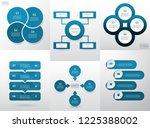 set of modern infographic... | Shutterstock .eps vector #1225388002