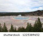 old faithful legendary geyser... | Shutterstock . vector #1225389652