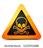 skull triangle hazard sign | Shutterstock .eps vector #122541688