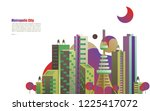 modern metropolis city with... | Shutterstock .eps vector #1225417072