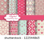 abstract valentines day vector... | Shutterstock .eps vector #122544865