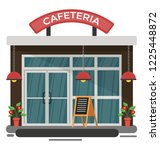 building of cafeteria... | Shutterstock .eps vector #1225448872