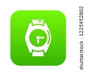 hand watch icon green vector... | Shutterstock .eps vector #1225452802