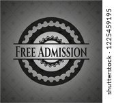 free admission black badge | Shutterstock .eps vector #1225459195