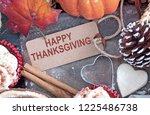 happy thanksgiving greeting...   Shutterstock . vector #1225486738