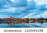 skyline of torun old town ... | Shutterstock . vector #1225492198