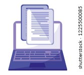 laptop with documents icon | Shutterstock .eps vector #1225500085