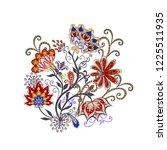 bouquet of fantastic flowers.... | Shutterstock .eps vector #1225511935