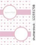 pastel colors valentine card | Shutterstock .eps vector #122551708