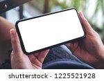 mockup image of woman's hands... | Shutterstock . vector #1225521928