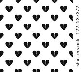 broken heart pattern seamless... | Shutterstock .eps vector #1225537372