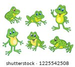 Set Of Six Funny Little Frogs...