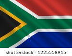 flag of republic of south... | Shutterstock . vector #1225558915