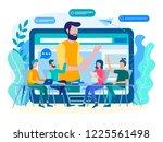 online coaching  online... | Shutterstock .eps vector #1225561498