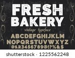 classic vintage decorative font ... | Shutterstock .eps vector #1225562248