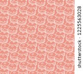 seamless pattern with donuts ... | Shutterstock .eps vector #1225563028