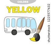school bus coloring page  back... | Shutterstock .eps vector #1225577632