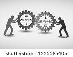 concept of devops  illustrates...   Shutterstock .eps vector #1225585405
