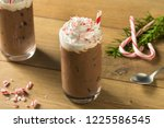 sweet peppermint iced coffee... | Shutterstock . vector #1225586545