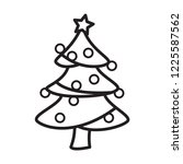 christmas tree icon in trendy... | Shutterstock .eps vector #1225587562