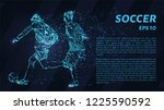 soccer of the particles carries ... | Shutterstock .eps vector #1225590592