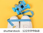sport shoes and equipment for... | Shutterstock . vector #1225599868