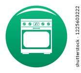 domestic gas oven icon. simple... | Shutterstock .eps vector #1225603222