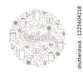 kombucha hand written vector...   Shutterstock .eps vector #1225604218