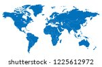the world and slovakia map... | Shutterstock .eps vector #1225612972