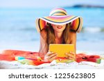 outdoors lifestyle fashion... | Shutterstock . vector #1225623805