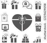 gift box icons   element...   Shutterstock .eps vector #1225629058