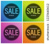 colorful sale banner and poster. | Shutterstock .eps vector #1225660612