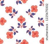 1950s style retro daisy flower... | Shutterstock .eps vector #1225670332