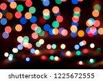 christmas lights blurred... | Shutterstock . vector #1225672555