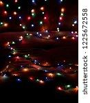 christmas lights blurred... | Shutterstock . vector #1225672558