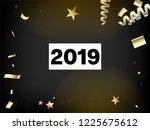 2019 magic glitter confetti ... | Shutterstock .eps vector #1225675612