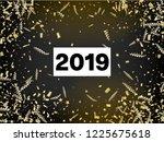 2019 new year confetti... | Shutterstock .eps vector #1225675618