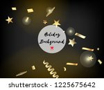 modern magic glitter confetti ... | Shutterstock .eps vector #1225675642