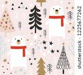 seamless cute pattern for kids  ... | Shutterstock . vector #1225677262