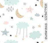 seamless cute pattern for kids  ... | Shutterstock .eps vector #1225677535