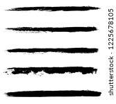 set of 5 pieces grunge edges... | Shutterstock .eps vector #1225678105