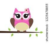 vector illustration of cute owl ... | Shutterstock .eps vector #1225678855