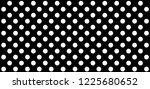 black and white polka dot... | Shutterstock .eps vector #1225680652