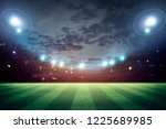lights at night and stadium 3d... | Shutterstock . vector #1225689985